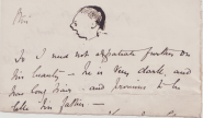 Fragment of a letter from George's father to his maternal grandmother, 2 December 1868